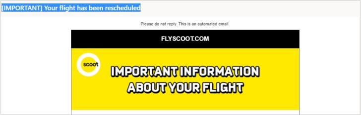スクート航空 時間 日程変更 3つ 選択肢